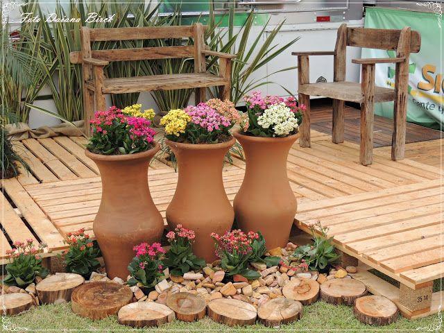 Jardim rústico para chácara