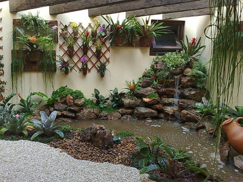 Jardim rústico de inverno