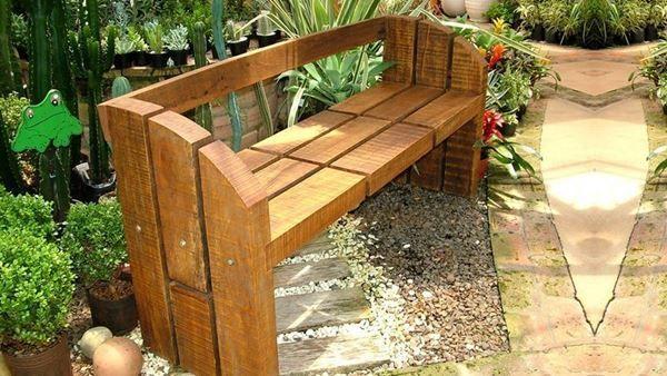 Jardim rústico madeira