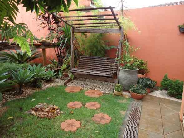 Jardim rústico para residencia
