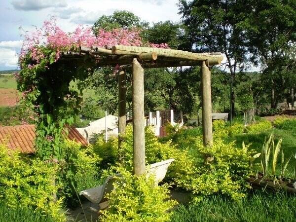Jardim rústico para sítio